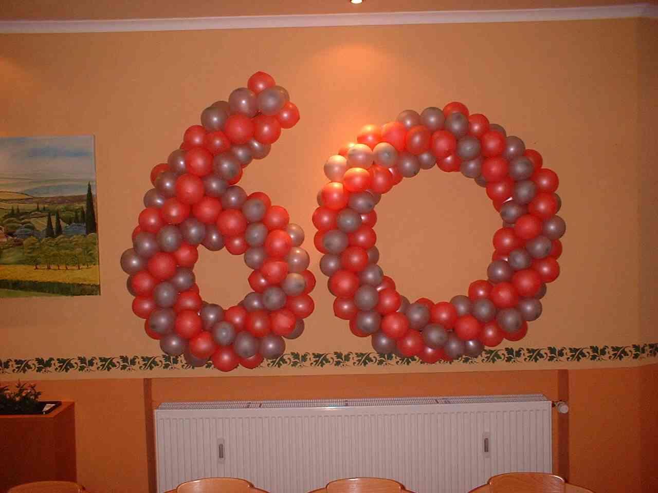 Balooni luftballons dekoration for 60 geburtstag dekoration